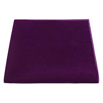 Luxury Aubergine Purple Velvet Pocket Square, Handkerchief, Eggplant