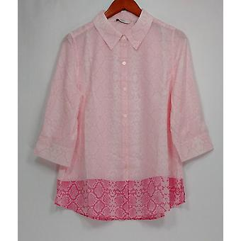 Isaac Mizrahi Live! Donne&s Top Snake stampa bloccato Rosa A262833
