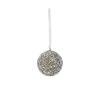Light & Living Christmas Bauble Round Ø7 Cm NAPU Silver-creme