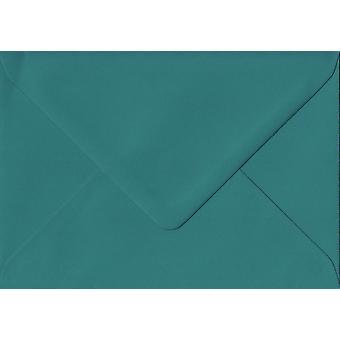 Teal Green gummerat C7/A7 färgade gröna kuvert. 135gsm GF Smith Colorplan papper. 82 mm x 113 mm. bankir stil kuvert.