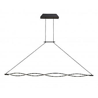 Mantra Sahara XL Pendant 42W LED 2800K, 3400lm, Dimmable Frosted Acrylic/Brown Oxide, 3yrs Warranty