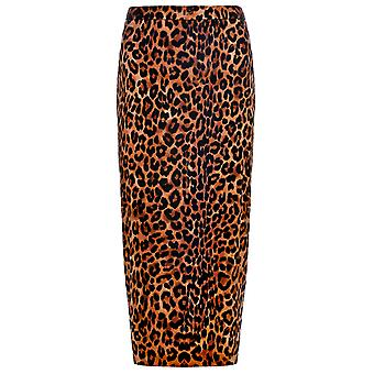 Joy Amabe Leopard Print Pencil Skirt