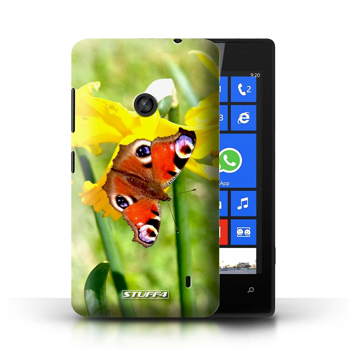 STUFF4 Case/Cover For Nokia Lumia 520/Butterfly/Floral