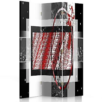 Room Divider, 3 Panels, Double-Sided, Rotatable 360, Canvas, Abstract Composition 1
