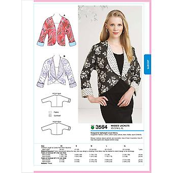 Jackets  Xs  S  M  L  Xl Pattern K3564
