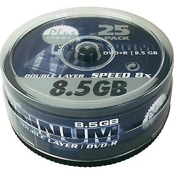 Blank DVD+R DL 8.5 GB Platinum 100040 25 pc(s) Spindle