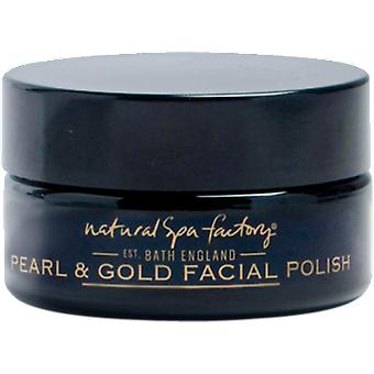 Natural Spa Factory Pearl & Grape Leaf Extract Luxury Gold Face Polish