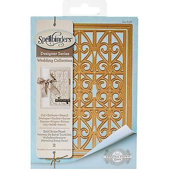 Spellbinders Shapeabilities Dies-Swirl Stripe Panel S4656