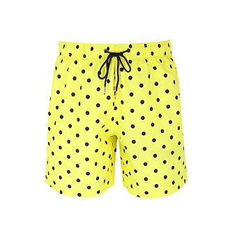 Boardies Yellow & Black Polka Dot Swim Shorts
