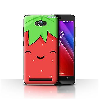 STUFF4 Case/Cover for Asus Zenfone Max ZC550KL/Strawberry/Kawaii Food