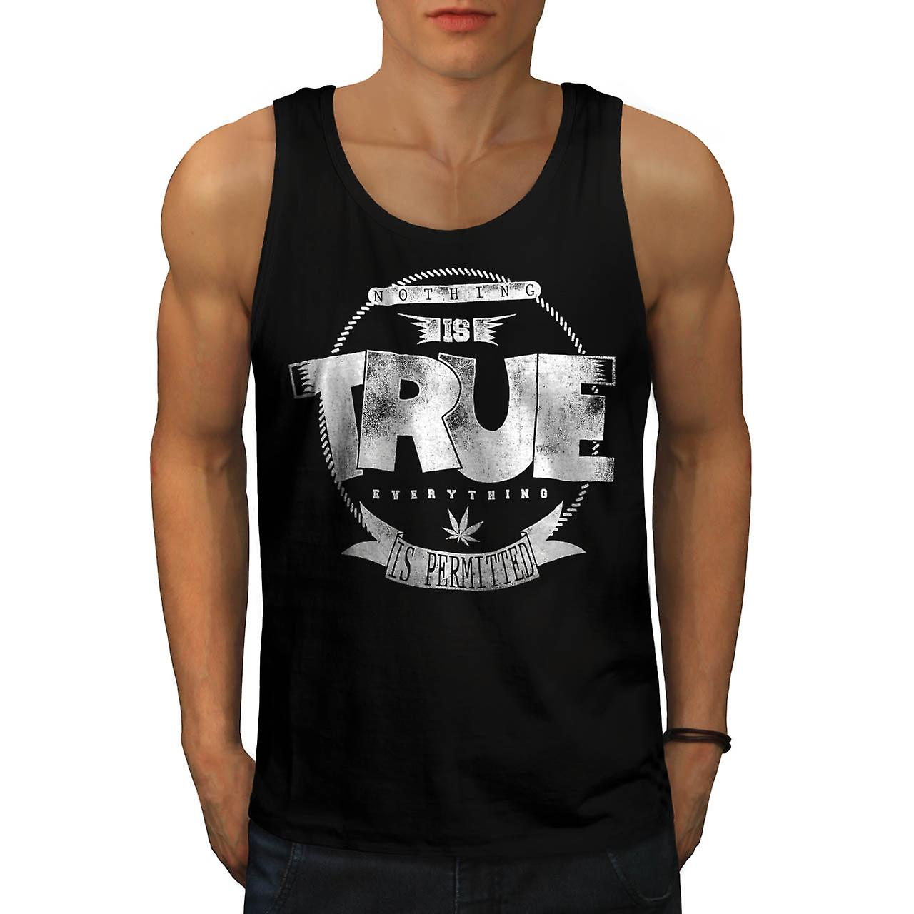 Weed Nothing True USA Marijuana Men Black Tank Top | Wellcoda