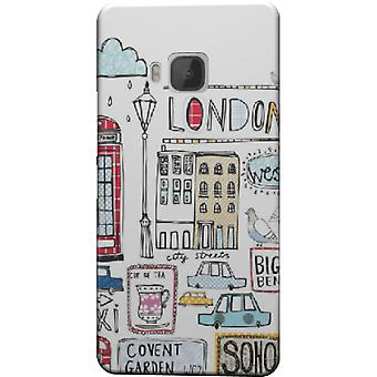 London cartoon cover for HTC M9