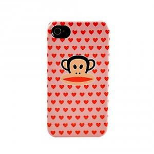 Paul Frank ® multi hearts Julius Hardcover case for iPhone 4 / 4S - pink