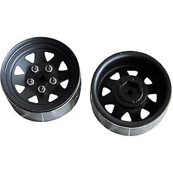 Amewi Crawler Rims 8-spoke Black 2 pc(s)