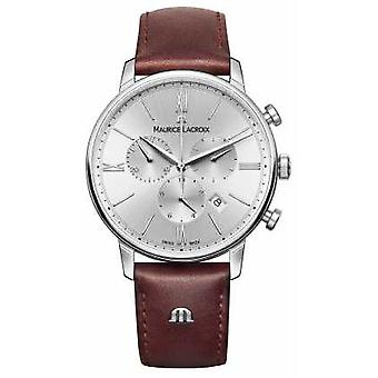 Maurice Lacroix Eliros data Leather Watch Strap Chronograph EL1098-SS001-110-1
