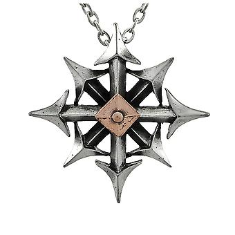 Alchemy colgante Chaostar gótico con collar
