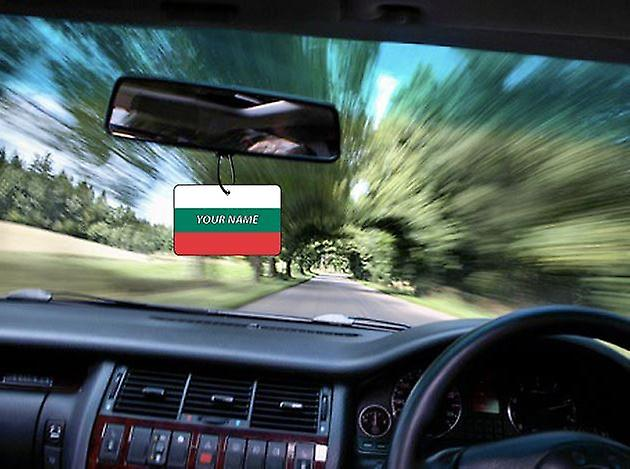 Bulgaria Flag Personalised Car Air Freshener
