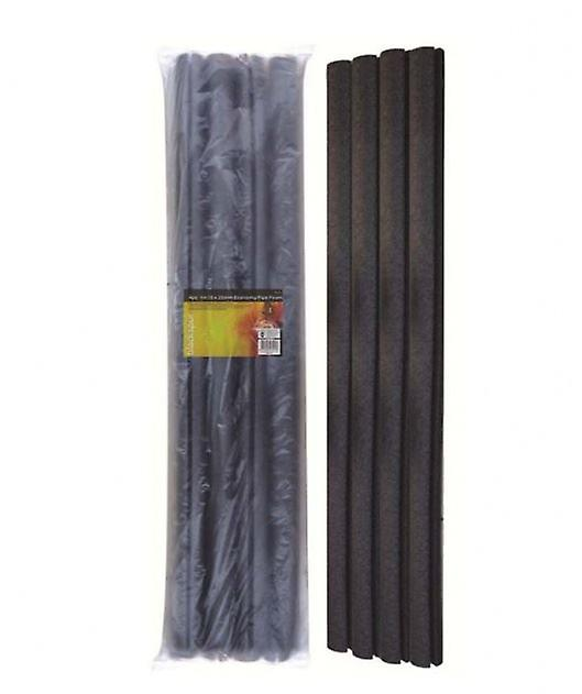 Set of 4 1M 15 X 25mm Economy Pipe Foam Insulation Frost Protection