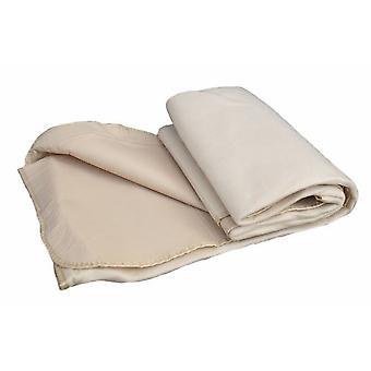 Cream Fleece Waterproof Backed Picnic Rug