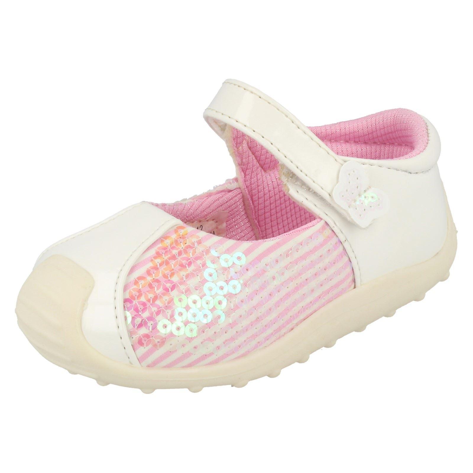 Baby Mädchen Cutie Pailletten Detail flache Schuhe
