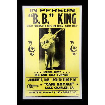 B.B. King Concert retro music poster