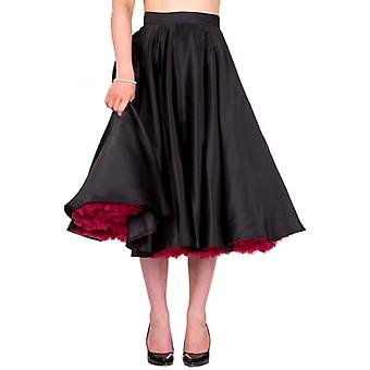 Banned Apparel Banned Apparel 50's Full Circle Satin Swing Skirt
