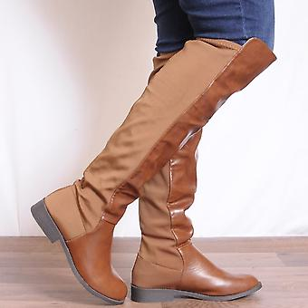 Koi Couture Brown Over Knee Boots
