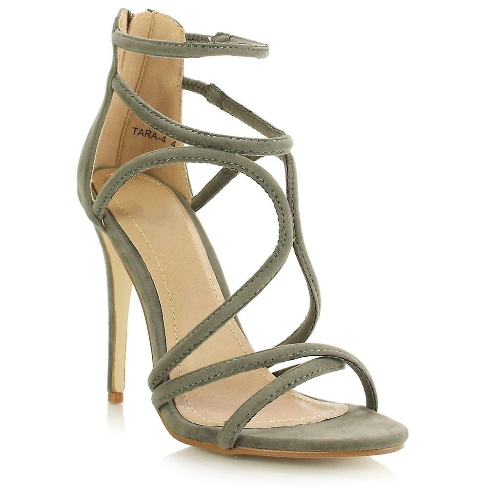 schuh schrank khaki stilettos damen strap tara 4 khaki gr ne ankle strap damen stilettos peep. Black Bedroom Furniture Sets. Home Design Ideas