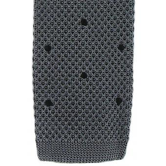 Michelsons of London Spot Design Tie - Charcoal/Black
