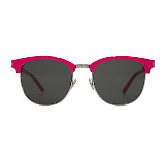 Saint Laurent SL 108 Surf Browline Style Sunglasses In Pink