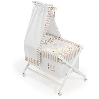 Interbaby Natural Crib canopied Beige Baby Rabbit Model