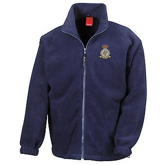 RAF-stationen Menwith Hill broderad Logo - officiell Royal Air Force Full Zip Fleece