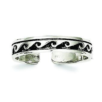 Plata esterlina sólida antiguo acabado envejecido anillos - 1,7 gramos