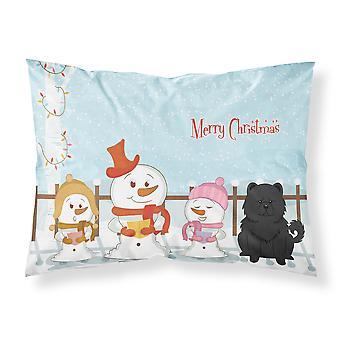 Merry Christmas Carolers Chow Chow svart stoff Standard putevar