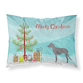 アイリッシュ ・ ウルフハウンド メリー クリスマス ツリーはファブリックの標準的な枕