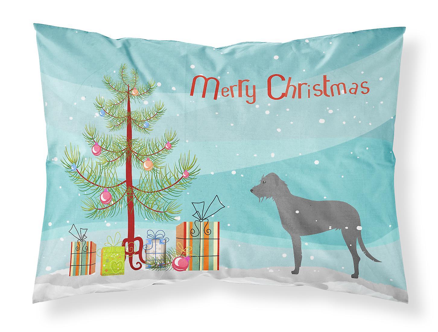 Christmas Taie D'irish D'oreiller Wolfhound Merry Tree Standard Tissu Nn0wv8Om