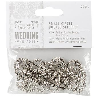 Papermania Ever After Wedding Buckle Ribbon Sliders 25/Pkg-Circle PM158441