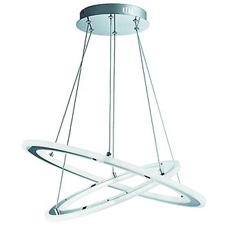 Solexa Chrome 2 Ring Led Pendant - Searchlight 5882-2cc