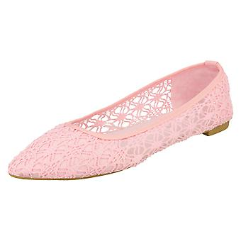 Ladies Spot On Flat Ballerina Shoes