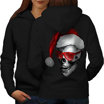 Swag Santa Claus Fashion Women BlackHoodie Back | Wellcoda