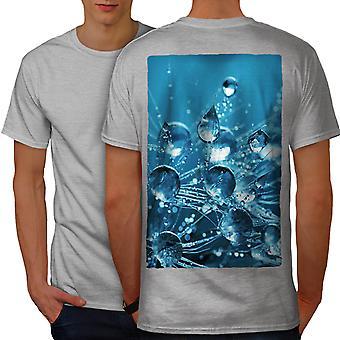 Drop Splash Photo Men GreyT-shirt Back   Wellcoda