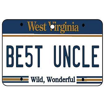 West Virginia - beste oom License Plate auto luchtverfrisser