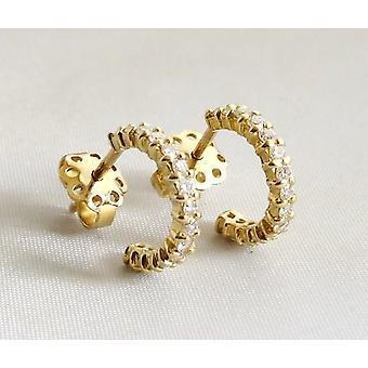 18 carat yellow gold earrings with diamonds