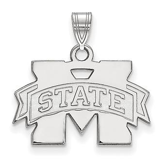 925 Sterling Silver Mississippi State University Charm Pendant - 12x19mm