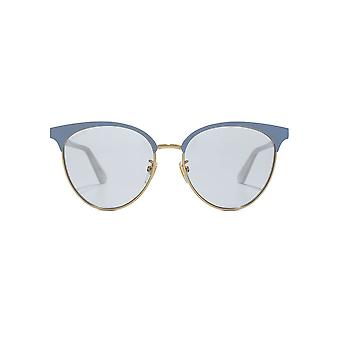 Gucci GG Metal Cateye Sunglasses In Light Blue