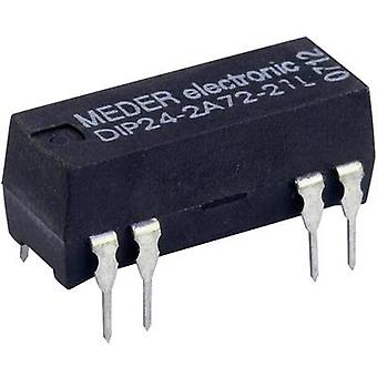 Reed relay 2 makers 24 Vdc 0.5 A 10 W DIP 8