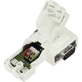 WAGO 750-972 D-SUB Plug Connector For Profibus Number of pins=9 Plug, right angle Spring clamp