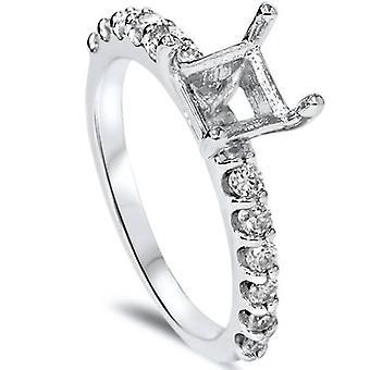 1 / 2ct puoli ikuisuutta Diamond Ring asetus 14K valkokulta