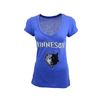 Minnesota Timberwolves NBA Majestic Tri-Blend V-Neck Tee