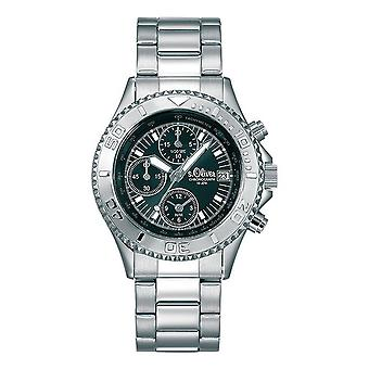s.Oliver Unisex-Armbanduhr Analog Quarz Chronograph SO-15071-MCR